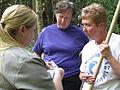 Emily Guss, Vicki Pentecost and Ann McGhee talking salamanders (4977628198).jpg