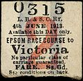 Emily Wilding Davison's Return Ticket, 1913-06-04. (22778907025).jpg
