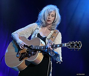 "Country rock - Emmylou Harris, the ""Queen of country rock"", playing in Rotterdam, Netherlands (2006)"