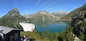 Lac d'Émosson - Image: Emosson Barrage 082007
