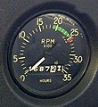 Engine instruments Cessna 152 RPM gauge tachometer.jpg