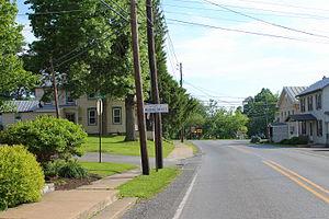 Washingtonville, Pennsylvania - Entering Washingtonville from Strawberry Ridge Road