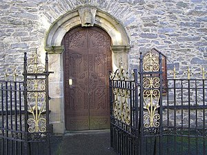 St Eunan's Cathedral, Raphoe - Image: Entrance doors, Raphoe Church of Ireland Cathedral geograph.org.uk 998452