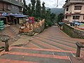 Entrance road to Thirunelli Temple Kerala in 2017.jpg