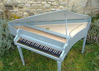 Spinet - Modern bentside spinet built by Clavecins Rouaud, Paris