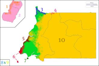Demographics of Equatorial Guinea - Image: Equatorial Guinea's ethnic groups