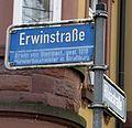 Erwinstraße in Freiburg, benannt nach Erwin von Steinbach.jpg