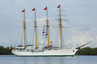 <i>Esmeralda</i> (BE-43) four-masted barquentine tall ship of the Chilean Navy