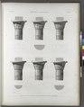 Esné (Isnâ) (Latopolis). Plan et élévations de six chapiteaux du portique (NYPL b14212718-1267905).tiff