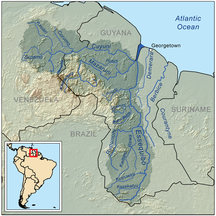 Guyana-Boundary disputes-Essequiborivermap
