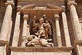 Estàtua de sant Miquel a la façana de l'església de sant Miquel dels Reis.JPG