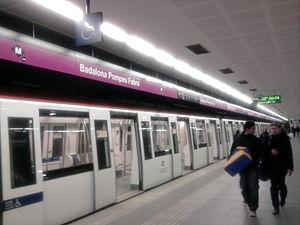 Badalona Pompeu Fabra (Barcelona Metro) - Station platforms