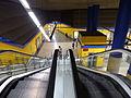 Estación de Canillas, Escaleras mecánicas, Línea 4, Madrid, España, 2015.JPG