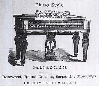 Estey Organ - Image: Estey Perfect Melodeon, Piano Style 1867 Estey catalogue (Waring 2002 p.24, Fig.7)