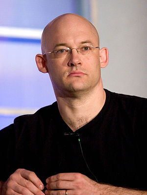Clay Shirky - Shirky on the Folksonomy panel at the 2005 O'Reilly Emerging Technology Conference in San Diego, California.