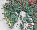 Ethnographic map of the Austrian Empire 1855 Czoernig - Istra.jpg