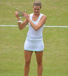 Eugenie Bouchard vincitrice del Torneo di Wimbledon juniores nel 2012
