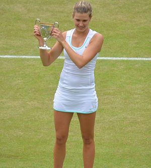 Eugenie Bouchard - Bouchard with her trophy after her win at the 2012 Wimbledon Championships junior event