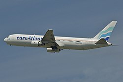 Boeing 767-300ER der EuroAtlantic Airways