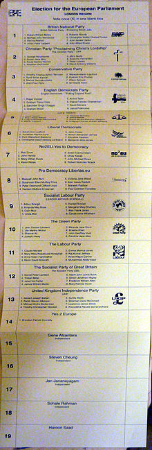 Europarliament ballot, Hackney, London, UK, 2009-06-04.jpg
