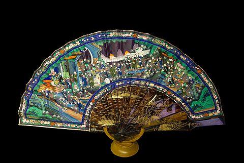 Eventail chinois asymetrique Alcazar Seville Spain