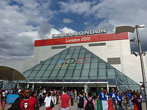 ExCeL London entrance during London 2012.jpg
