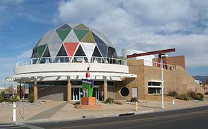 Explora (Albuquerque, New Mexico) - The Explora Center with its colorful dome