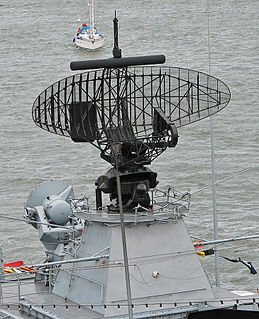 Radar lock-on Feature of a type of military offensive