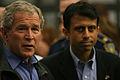 FEMA - 37940 - President Bush at the EOC in Louisiana.jpg