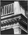 FRONT PORTICO ELEMENTS- COLUMN, ENTABLATURE AND RAILING - Tidalholm, 1 Laurens Street, Beaufort, Beaufort County, SC HABS SC,7-BEAUF,24-7.tif
