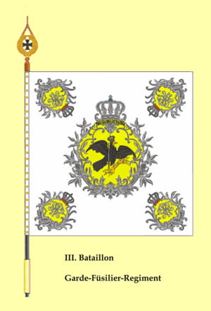 Guards Fusilier Regiment - Flag of the III battalion
