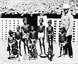 Central Provinces - Famine stricken children in Jubbulpore, Central Provinces, in 1897
