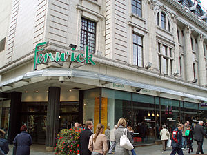 Fenwick (department store) - Main entrance to the Newcastle store on Northumberland Street.