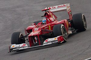 Fernando Alonso i Ferrari F2012 under Malaysias Grand Prix 2012