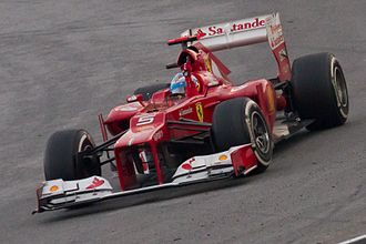 Formula One drivers from Spain - Fernando Alonso in a Ferrari at the 2012 Malaysian Grand Prix