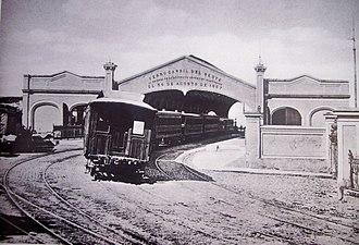 Del Parque railway station - Image: Ferrocarril Oeste de Buenos Aires Estación del Parque Christiano Junior