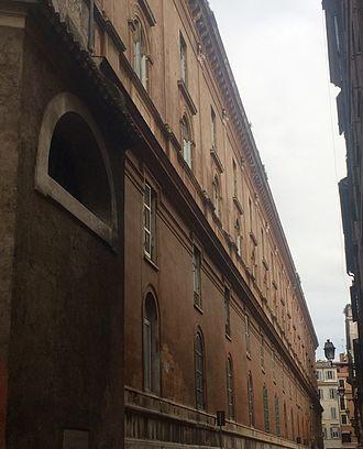 San Giacomo degli Incurabili - Southern façade of the Hospital San Giacomo