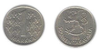 Finnish markka currency of Finland in 1860–2002