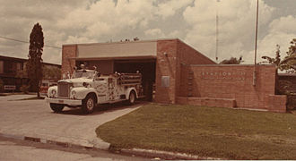 Braeswood Place, Houston - Fire Station 37, 1976