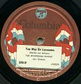First Electrical Recording You May Be Lonesome Columbia Flag Label.jpg