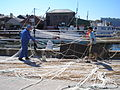 Fishermen on Teignmouth quay, 1 July 2012.jpg