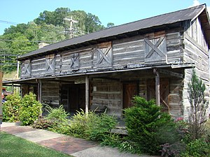 Magoffin County Pioneer Village and Museum - Image: Fletcher Arnett Cabin, Magoffin County Pioneer Village and Museum