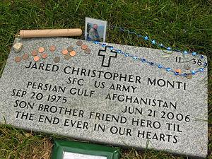 Jared C. Monti - Jared C. Monti at Massachusetts National Cemetery