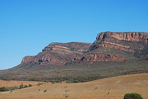 Flinders Ranges - The Flinders Ranges at the southern end of Wilpena Pound