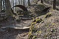 Flitsch oesterr-ungar Frontlinie Uebergangsgraben und Schneegloeckchen 10032015 0647.jpg