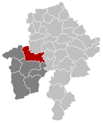 Florennes - Image: Florennes Namur Belgium Map