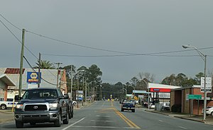 Florida State Road 71 - Looking north at Florida State Road 71 from SR 20 in Blountstown