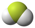 Spacefill model of fluoronium
