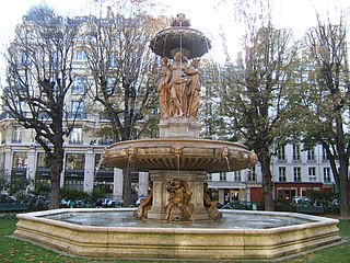 fountain in Paris, France