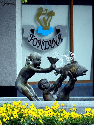 Brčko - Fountain - the symbol of town